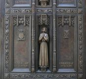 Mother Seton, Exterior Doorsof St Patrick`s Cathedral Stock Photography