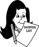 Mother with shopping list Stock Photos