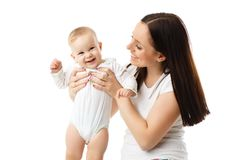 Mother with small baby. Royalty Free Stock Photos