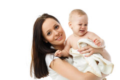Mother with small baby. Stock Image