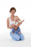 Mother with small baby. Stock Photos