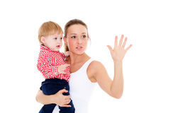 Mother with small baby. Stock Photography
