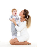 Mother with small baby. Royalty Free Stock Images
