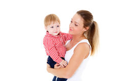 Mother with small baby. Royalty Free Stock Photography