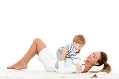 Mother with small baby. Stock Photo