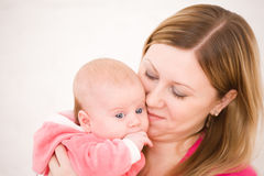 Mother and the small child Stock Photography