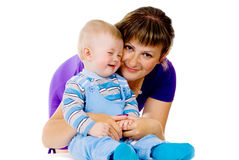 Mother with a small child stock photography