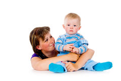 Mother with a small child royalty free stock photos
