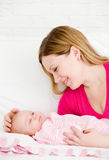 Mother and the small child Royalty Free Stock Photography