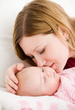 Mother and the small child Stock Photos