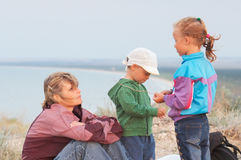 Mother with small children Royalty Free Stock Photos