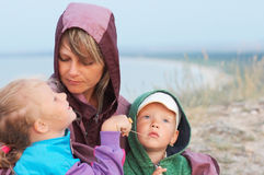 Mother with small children Royalty Free Stock Images