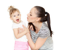 Mother with small daughter. Royalty Free Stock Photos