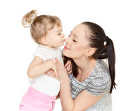 Mother with small daughter. Stock Photo
