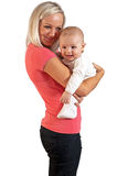 Mother smile to her child Stock Images