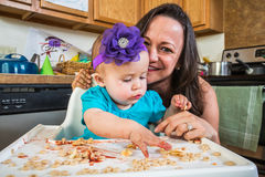 Mother Smiles With Baby Royalty Free Stock Images