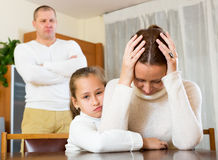 Mother solace to crying daughter Stock Photography
