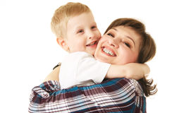 Mother and son. Mother and her little son stock photography