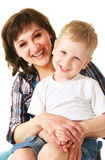 Mother and son. Mother and her little son Royalty Free Stock Images
