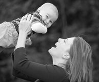 Mother and Son. Having Fun Playing Royalty Free Stock Photo
