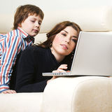 Mother and son royalty free stock images