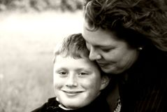 Mother and son. A mother and son sharing a tender moment Royalty Free Stock Photo