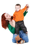 Mother with son. Mother is playing with her son Royalty Free Stock Photo