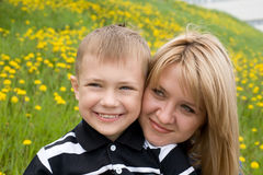 Mother and son Stock Image