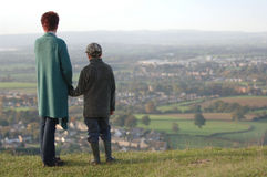 Mother and Son. A Mother and her Son looking at a view royalty free stock photo