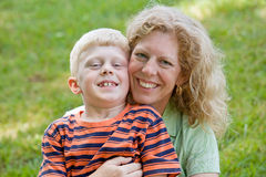 Mother and Son. Smiling Big Stock Image