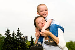 Mother with son Royalty Free Stock Photos