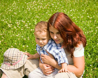 Mother and son. In park Royalty Free Stock Image