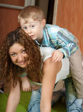 Mother with son Royalty Free Stock Image