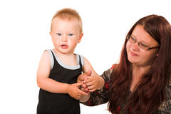 Mother with son Royalty Free Stock Photo