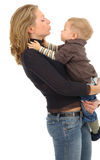 Mother with son. Mother playing with her son. boy 4-6 years Stock Photo