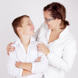 Mother and Son. A young mother and her son all Stock Photography