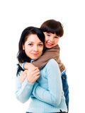 Mother and son stock photos