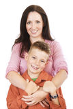 Mother and son. Cuddling Stock Photo