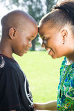 Mother and son. Happy african american mother and son Royalty Free Stock Images