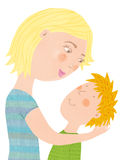 Mother and son. Nice illustration Royalty Free Stock Photography