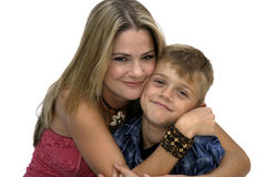Mother and Son. Portrait of a young mother with her son Stock Photography