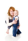 Mother with son Stock Images