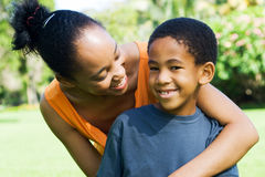 Mother and son. African mother and son together Stock Photos