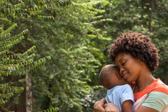 Mother and son. African American mother and son Royalty Free Stock Images