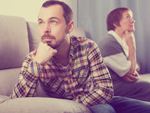 Mother and son arguing Royalty Free Stock Photo