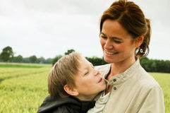 Mother and son. Attractive mother and her teenager son Royalty Free Stock Image