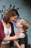 Mother and son. Attractive mother and her teenager in intimate friendship Royalty Free Stock Photography