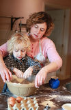 Mother and son baking Stock Photo