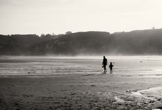 Mother and son on the beach Royalty Free Stock Photo