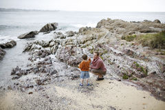 Mother and son at the Beach Royalty Free Stock Images